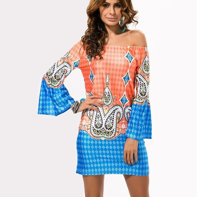 Bohemian Off-Shoulder Summer Dresses - Sedikhii Savings Plus