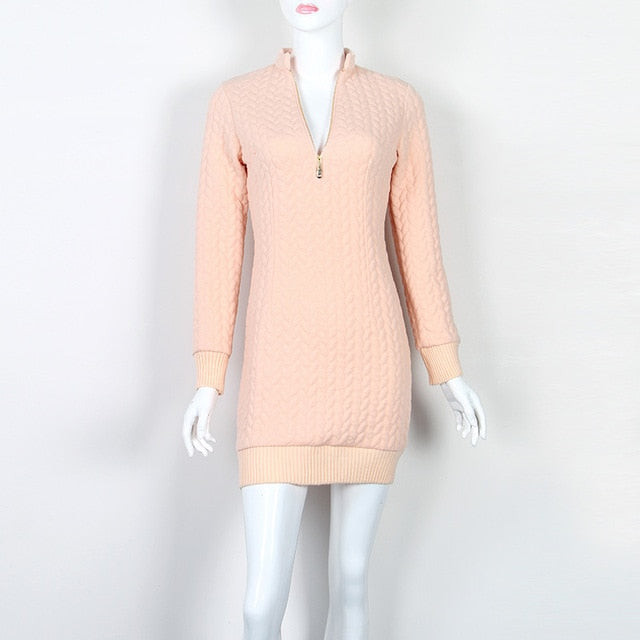 Zip-Up Sweater Dress (3 Colors) - Sedikhii Savings Plus