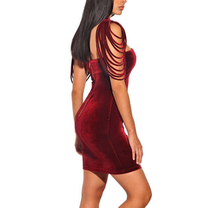 Beautiful Strapless Velvet Mini Dress (2 Colors) - Sedikhii Savings Plus