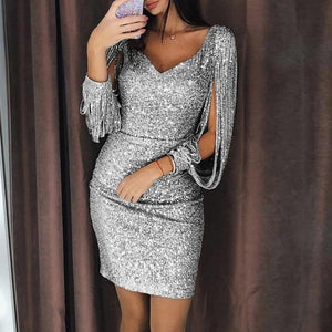 Sexy Sequin Bodycon Mini Dress (Three Colors) - Sedikhii Savings Plus