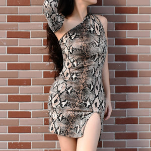 Sexy Snake Skin Style Mini Dress - Sedikhii Savings Plus