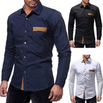 Men's Smart Long Sleeve Button-Up Shirt