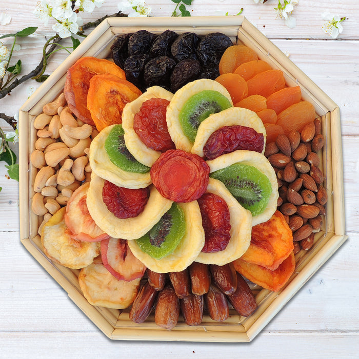 Octagon Fruit & Nut Gift Basket 28oz