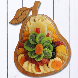Dried Fruit Pear Bamboo Cutting Board 21 oz