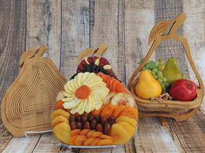 Premium Dried Fruit Pear Tray~Trivet~Fruit Bowl 44 oz