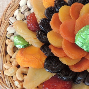 Fruit & Nut Basket with Chocolate Leaves 54 oz