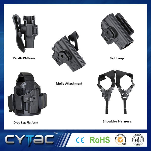 How to change your Cytac holster attachments?