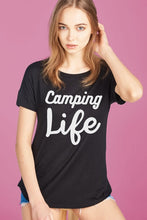Load image into Gallery viewer, Camping Life Short Sleeve Top