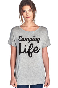 Camping Life Short Sleeve Top