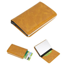 Load image into Gallery viewer, Fashion credit card holder Men Women Alloy Leather