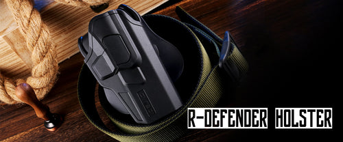 OUTSIDE THE WAISTBAND HOLSTER-R-DEFENDER-PADDLE HOLSTERS-LEVEL 2 PUSH BOTTON