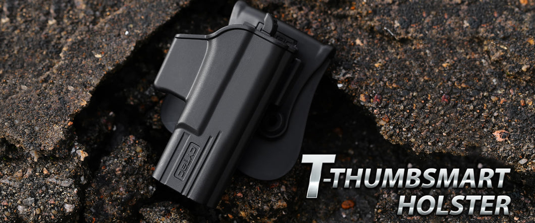 T-ThumbSmart Series Paddle Holster with a FREE single Universal Magazine