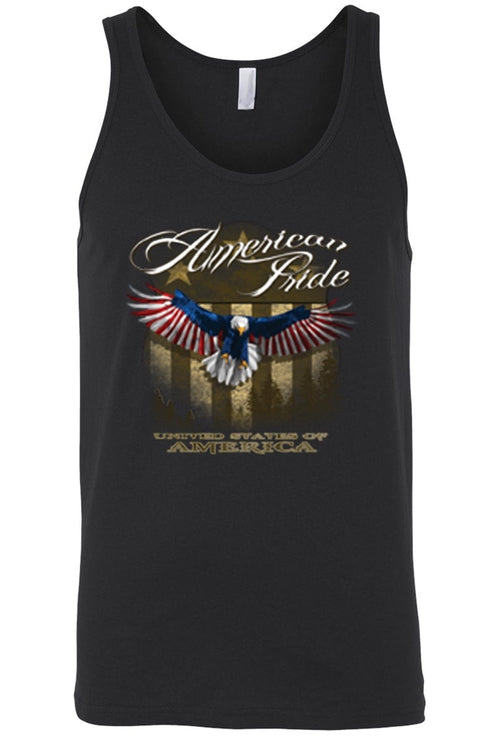 Men's American Pride USA Flag Tank Top Shirt