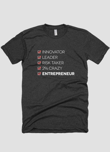 INGREDIENTS OF AN ENTREPRENEUR T-shirt