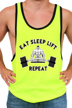Load image into Gallery viewer, Men's Dri Fit Eat Sleep Lift Repeat Tank Top