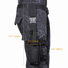 Load image into Gallery viewer, Tactical Drop Leg Holster Adjustable Gun Holster Thigh Pistol Holster with Magazine Pouches for Left/Right Handed Magazine Pouch