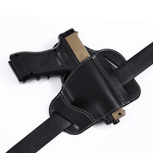 Load image into Gallery viewer, Tactical Bull Leather Waist Holster Concealed Carry Pistol Gun Pouch Waist Bag Military Paintball Outdoor Sports Gun Holsters