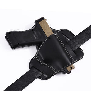 Tactical Bull Leather Waist Holster Concealed Carry Pistol Gun Pouch Waist Bag Military Paintball Outdoor Sports Gun Holsters