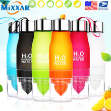 Load image into Gallery viewer, Dropshipping 650ML Lightweight Lemon Bottle Outdoor Sport Travel Infuser Juice Fruit Pulp Water Bottles for Healthy Drinking