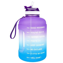 Load image into Gallery viewer, QuiFit 3.78L 2.2L 1.3L 128oz 1 Gallon Water Bottle with Straw Clear Plastic Drinking Bottles Big GYM Jug Cup BPA Free GYM Sports