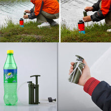 Load image into Gallery viewer, Portable Soldier Water Filter Purifier Cleaner Outdoor Hiking Camping Survival Emergency