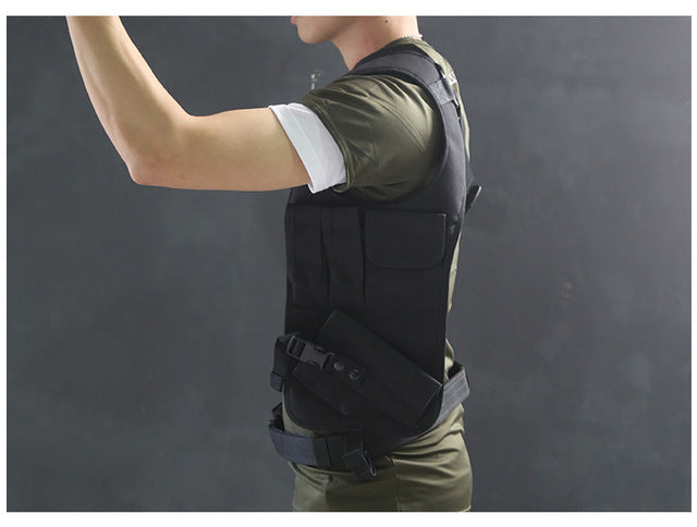 AAA Tactical Waist Pistol Holster Safety Anti-thief Hidden Holster Molle Hidden Gun Bag Hunting Shoulder Bag Sport Storage