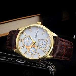 Geneva Watch Women Fashion 2019 Casual Quartz Watches PU Leather Men's Watches Business Style Wristwatches relogio masculino #53