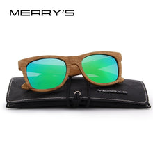 Load image into Gallery viewer, MERRY'S DESIGN Men/Women Wooden Sunglasses Retro Polarized Sun Glasses HAND MADE 100% UV Protection S'5140