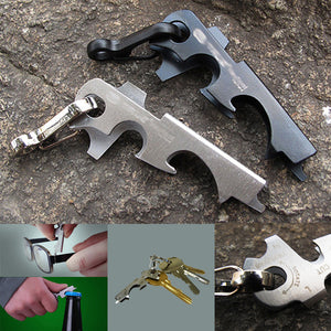 2019 Bottle Opener Climbing Clasp Screwdriver Outdoor Multifunction Tools Camping Keychain For Camping Travel