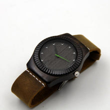 Load image into Gallery viewer, Leather Bamboo Wooden Watches