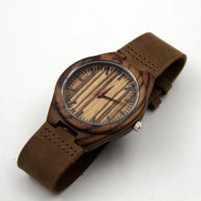 Load image into Gallery viewer, Fashion Leather Bamboo Wooden Watches