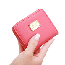 Load image into Gallery viewer, Women Leather Small Wallet Card Holder Zip Coin Purse Clutch Handbag