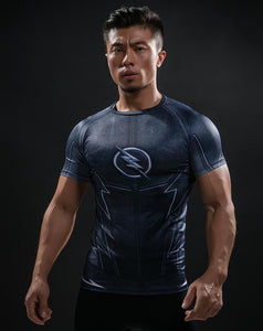 New Comic Superhero Compression Shirt Captain America Iron man Fit Tight G ym Bodybuilding T Shirt
