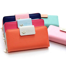 Load image into Gallery viewer, Birds Clutch Wallet Leather Case Long Zip Button Card Purse Handbag