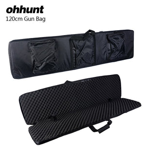 ohhunt 120cm 47 inch Shot~Gun Carrying Tactical Hunting Rifle Bags Polyester Construction Air Gun Protection Case Holsters Black