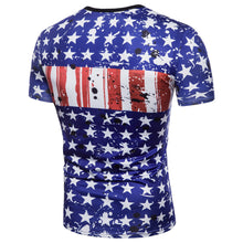 Load image into Gallery viewer, Mens Flag 3D Printing Tees Shirt Short Sleeve T-Shirt Blouse Tops