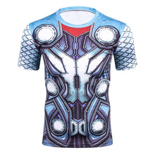 Load image into Gallery viewer, New Comic Superhero Compression Shirt Captain America Iron man Fit Tight G ym Bodybuilding T Shirt