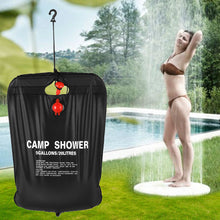 Load image into Gallery viewer, 20L / 5 Gallons Solar Energy Heated Camp Shower Bag Outdoor Camping Hiking PVC Water Bag