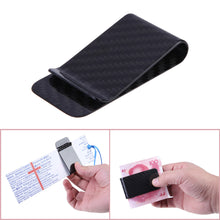 Load image into Gallery viewer, Anself  Real Carbon Fiber Money Clip Business Card Credit Card Cash Wallet Polished and Matte for Options