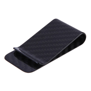 Anself  Real Carbon Fiber Money Clip Business Card Credit Card Cash Wallet Polished and Matte for Options