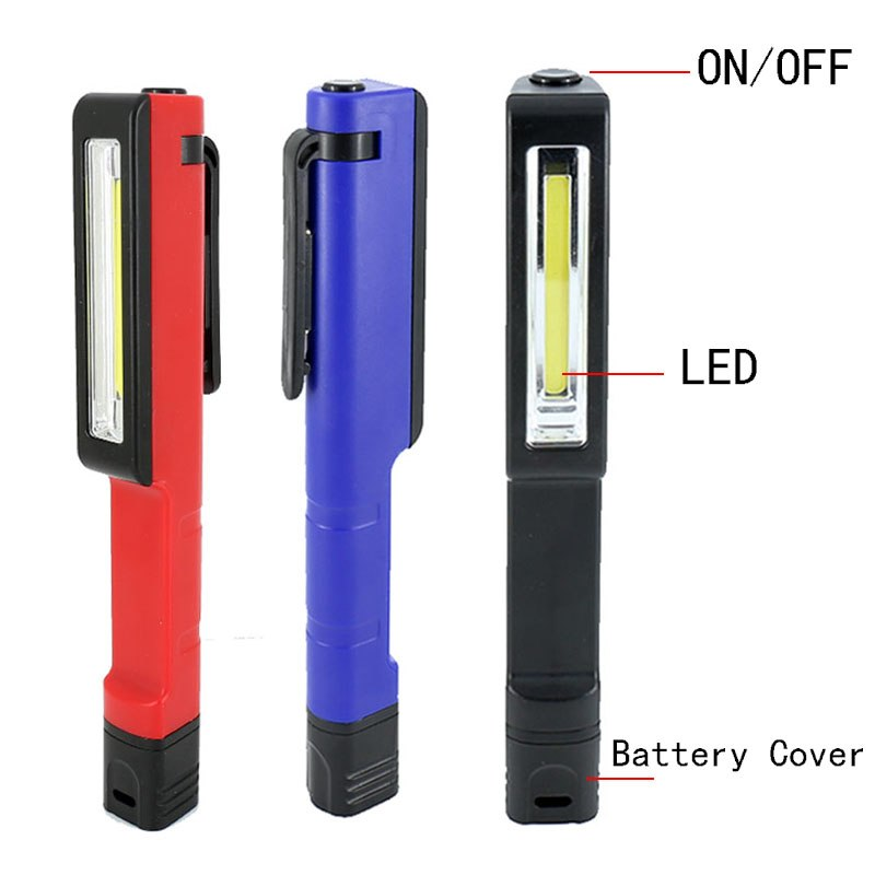 COB LED Mini Pen Multifunction led Torch light cob Handle work flashlight Work Hand Torch Flashlight With the Bottom Magnet
