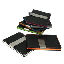 Load image into Gallery viewer, New Fashion Men Money Clip Faux Leather Slim Wallet ID Credit Card Holder Cash Clip