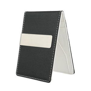 New Fashion Men Money Clip Faux Leather Slim Wallet ID Credit Card Holder Cash Clip