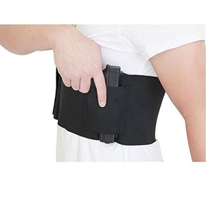 37inch Tactical Belly Band Holster Concealed Carry Pistol Gun Pouch Waist Bag Invisible Elastic Girdle Belt for Outdoor Hunting