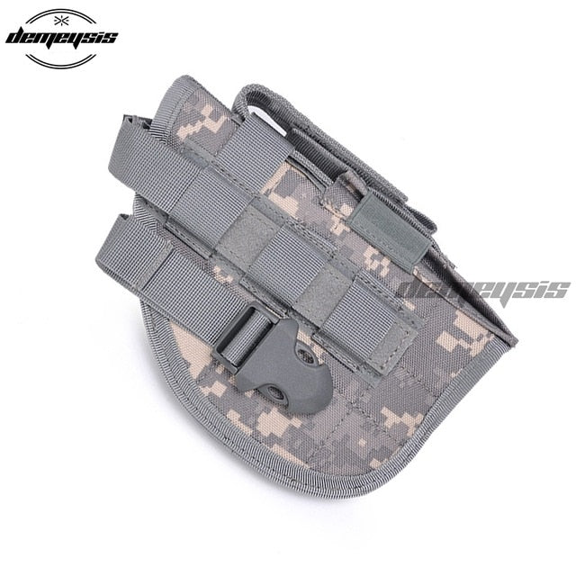 Universal Tactical Gun Holster Right Hand Molle Pistol Holster Combat Airsoft Waist Belt Holster Black tan green multicam