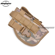 Load image into Gallery viewer, Universal Tactical Gun Holster Right Hand Molle Pistol Holster Combat Airsoft Waist Belt Holster Black tan green multicam