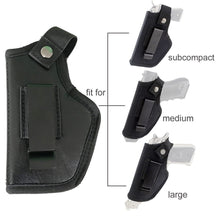 Load image into Gallery viewer, Tactical Leather Concealed Holster Universal Pistol Case for Beretta 92 Glock 17 19 22 23 M&P Gun Holster Left Right Hand