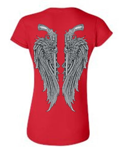 Women's Juniors Beautiful Angel Wings Pistols