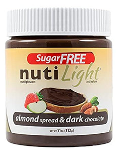 NutiLight - Sugar Free Almond Spread & Dark Chocolate