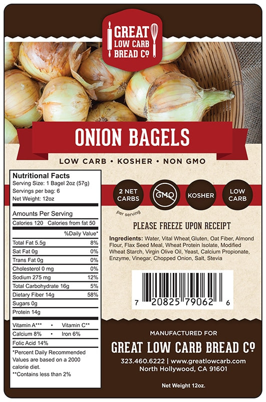 Great Low Carb Bread - Onion Bagel